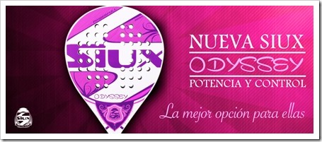 La pala Odyssey Woman de la firma SIUX en este 2015