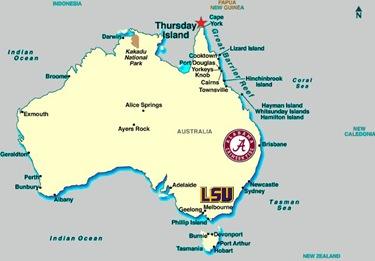 Jesse Williams map Brisbane Melbourne