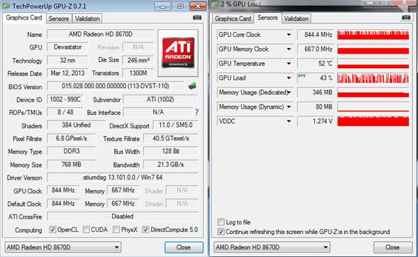 GPUZ AMD RADEON HD8670D_