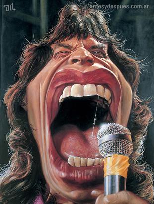 La caricatura de Mick Jagger
