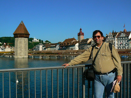 Things to do in Lucerne: walk Kappelbrucke