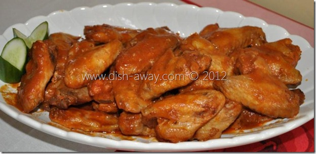 Sweet Baked Chicken Wings Recipe by www.dish-away.com