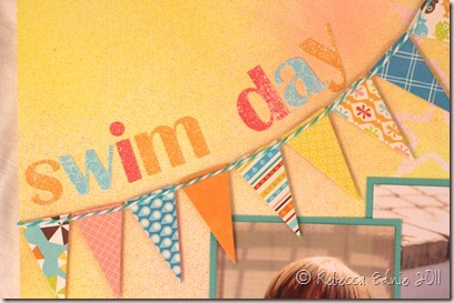 mr hueys swim day title closeup