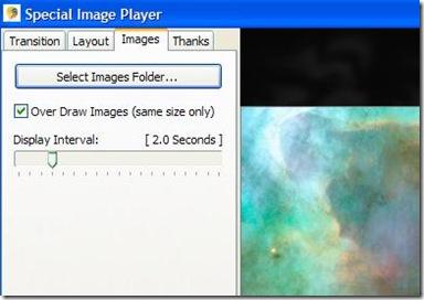 Special Image Player selezione foto da usare nella slideshow