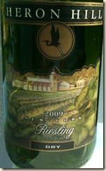 Heron hill riesling