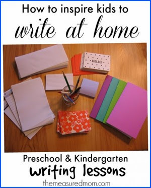 how-to-inspire-kids-to-write-at-home from The Measured Mom