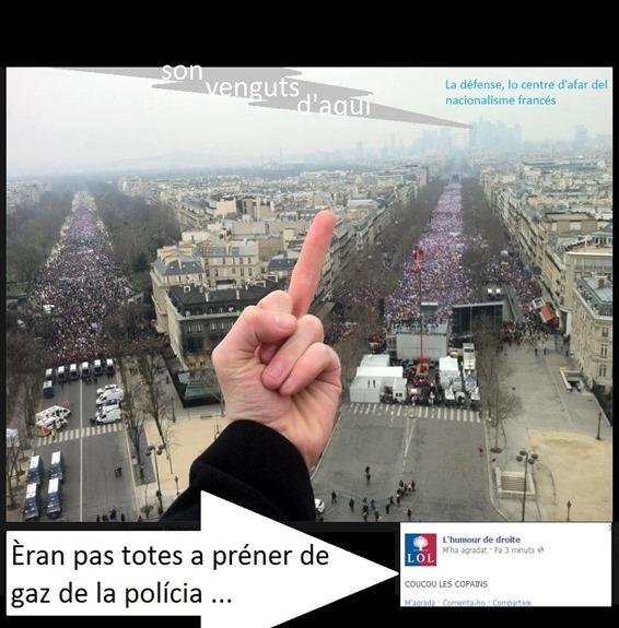 La polícia contra la dreita nacionalista francesa 2
