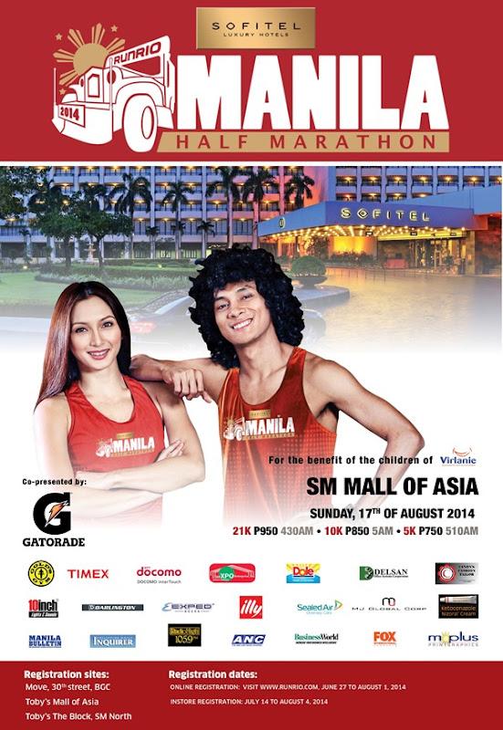 Sofitel Manila Half Marathon - poster