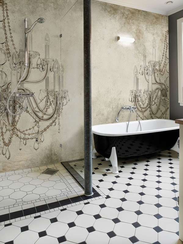 Inspiratie behang de wemelaer - Behang in de badkamer ...