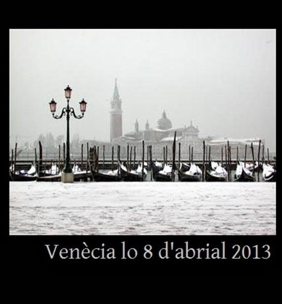 Venècia lo 8 d'abrial 2013