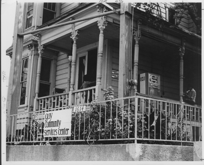 The first home of Los Angeles' Gay Community Services Center. Circa 1971.