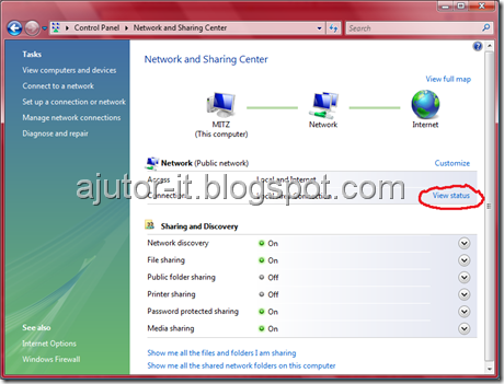Network-find-ip adress windows vista