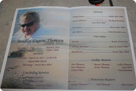 Bradley's Funeral Program (Medium)