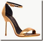 Kurt Geiger Gold Stiletto Sandals
