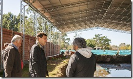 El intendente inspeccionó el natatorio municipal de Santa Teresita