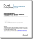 Deployment guide for Duet Enterprise for Microsoft SharePoint and SAP Server 2.0 Preview