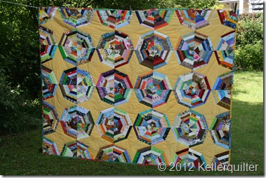 Quilt012-Spiderweb in bunt