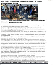XENOPHOBIA SOMALI TRADERS SOUTH AFRICA