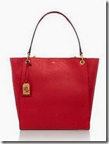Lauren Ralph Lauren Red Tote Bag