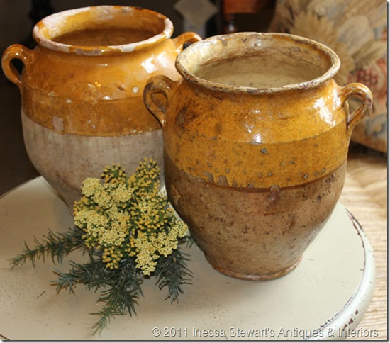 Antique Confit Pots