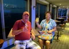 Terry Barb Enjoying B4 Dinner Cocktail