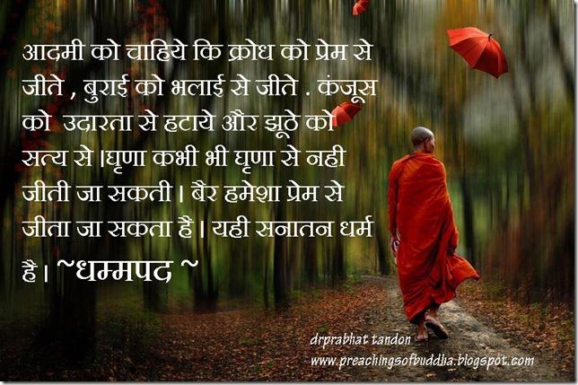 sanatan dharam as described by Buddha