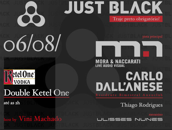Festa Just Black na Anzu Club em Itu