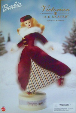 Barbie Doll Victorian Ice Skater Blonde 2000
