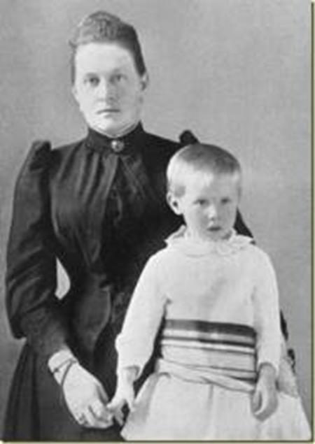 Olga y su hijo Cristóbal