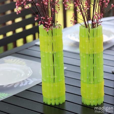 neon diy vase bamboo tutorial