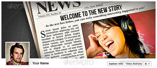 facebook newspaper template
