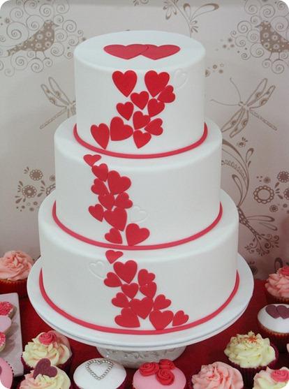 Decoracion de pastel dia del amor y la amistad ideas diy