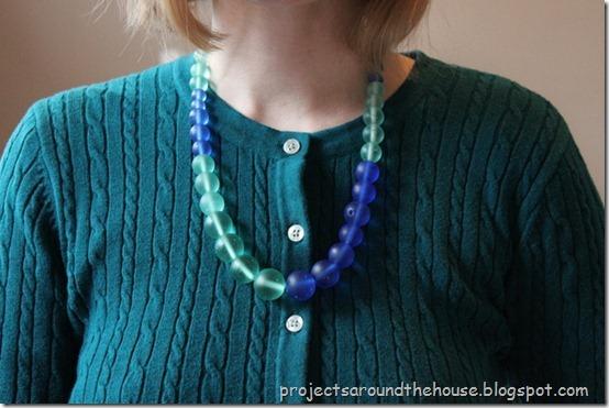 DIY color block necklace easy