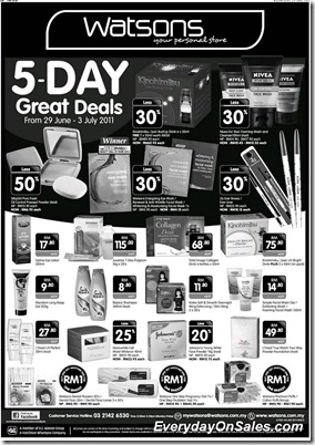 Watson-5Days-Great-Deals-2011-EverydayOnSales-Warehouse-Sale-Promotion-Deal-Discount
