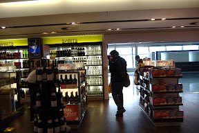 Jiv prowls the duty free