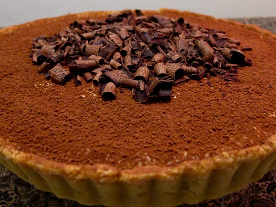 Black Bottom Tiramisu Tart