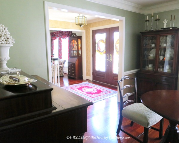 Formal Dining Room entry from the front foyer