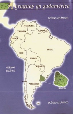 Uruguay on map