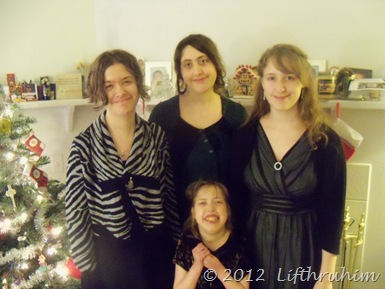 The girls on Christmas Morning after church.
