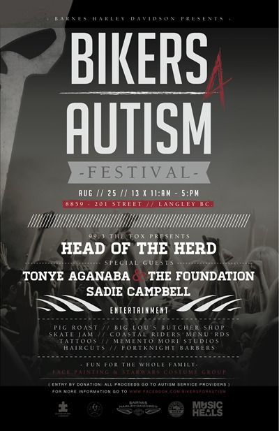 Bikers For Autism Festival 2013 Flyer