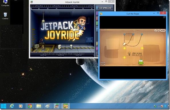 ModernMix applicazioni Windows 8 aperte sul Desktop in una normale finestra