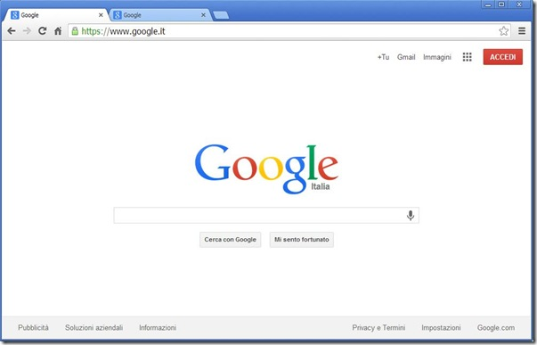 Google nuova interfaccia