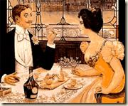 Une soirée au restaurant durant la Belle Epoque