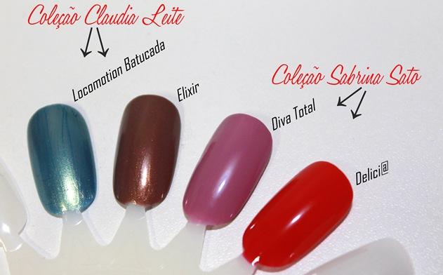 coleção claudia leite beauty color- coleção sabrina sato beauty color