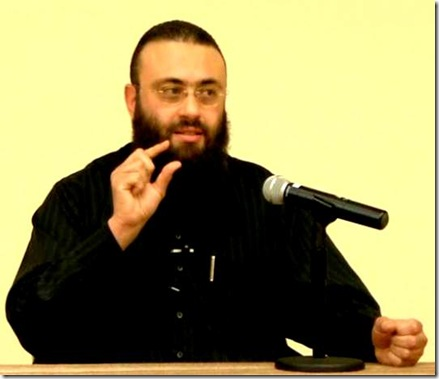 Dr. Hatem al-Haj, addressing Islamic Institute of Orange County, 6-2009