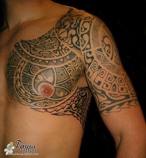 Tatouage polynesien bras paule - Tatouage epaule bras ...