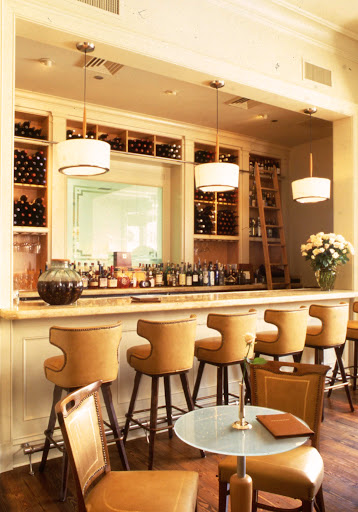 Emeril's Delmonico in New Orleans. Rich, creamy leathers are a great choice for the bar area.