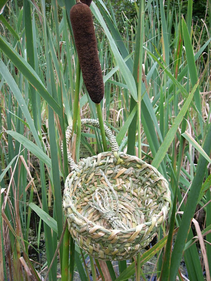 Cat-tail (Reedmace) basket