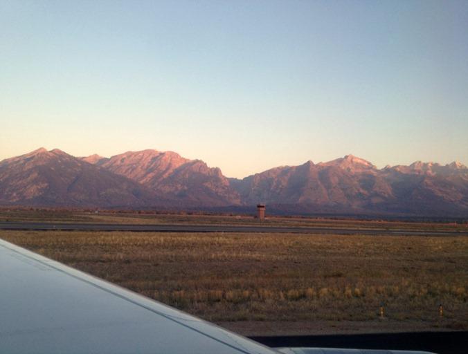 Teton Mountains from Airplane
