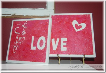 Valentine Canvas {A Sprinkle of This . . . . A Dash of That}